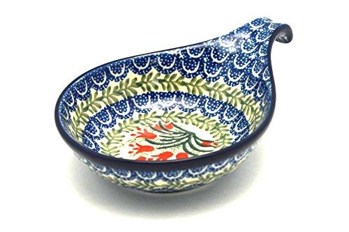 Polish Pottery Spoon/Ladle Rest - Crimson Bells