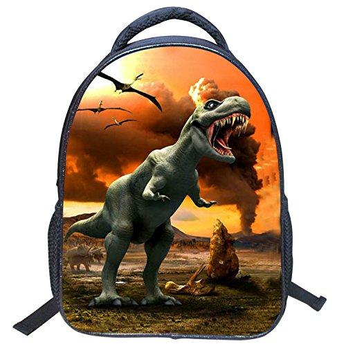 AnKoee Schultaschen für Kinder 3D Druck Dinosaurier Rucksack Persönlichkeit Junge Rucksack Persönlichkeit Kindergarten Grundschule Rucksack (Style-01) Style-06 6safENi3M1