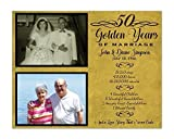 50th Wedding Anniversary Gift Personalized Print