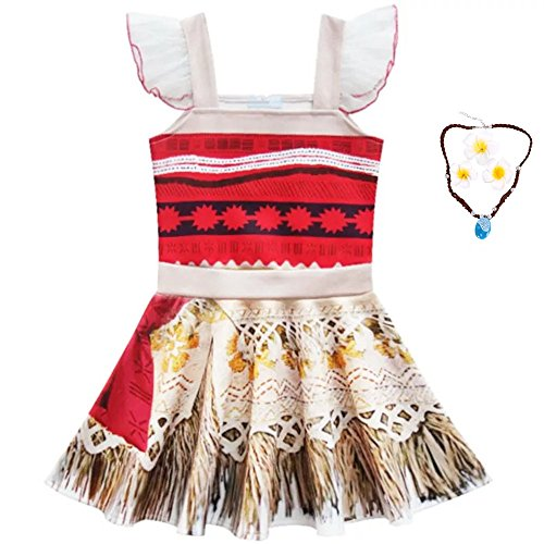 Baby Ballerina Halloween Costumes (FSBBUT (TM) Girls Moana Ballet Design Ballerina Stlye Dress Halloween Costumes for 3-10Y)