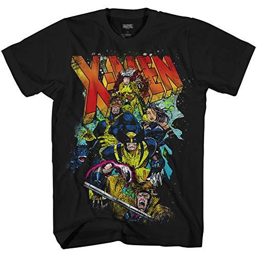 Marvel X-Men 90's Team Breakout Comics Officially Licensed Adult T Shirt (Medium) Black