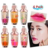 Petansy Flower Lip Gloss Set Jelly Moisturizer Lip Gloss Waterproof Long Lasting Liquid Lipstick