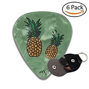 Eme's Pineapple - Juego de 6 púas de celuloide para guitarra eléctrica, guitarra acústica, mandolina y bajo