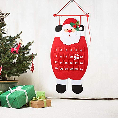 3D Santa Felt Advent Calendar 2019 Countdown to Christmas