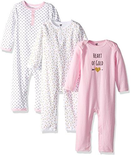 Hudson Baby Cotton Union Suit, 3 Pack,