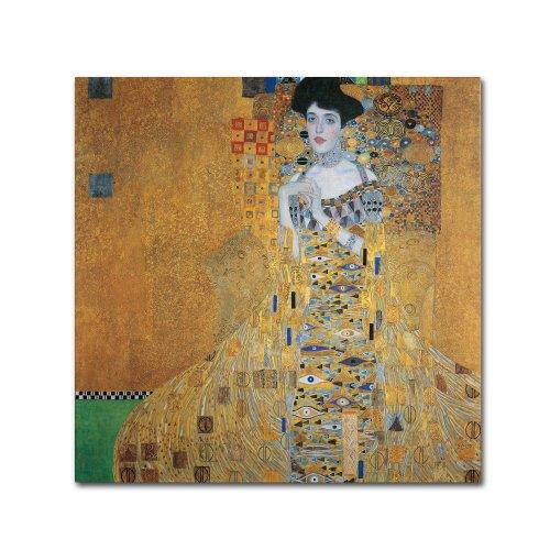 Adele Bloch Bauer Gustav Klimt - Portrait of Adele Bloch-Bauer I Artwork by Gustav Klimt, 35 by 35-Inch Canvas Wall Art