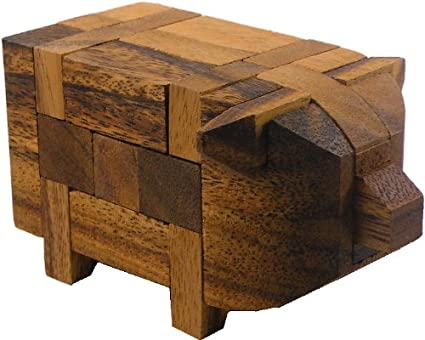 Pig Kumiki 3D Brain Teaser Wooden Puzzle