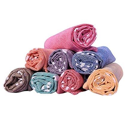 COMFORT WEAVE Cotton 8 Piece Hand Towel Set (Multicolor)