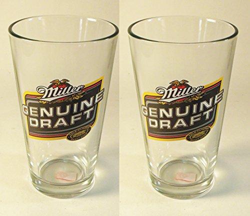 - Set of 2 Miller Genuine Draft Beer Glass