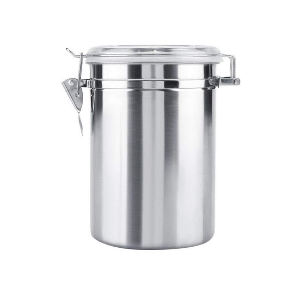 BESTONZON 1062 ml Edelstahl verschlossenen dosen kaffeebohnen lagertank Snacks Container Home küche Werkzeug (10x17 cm)