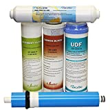 Puroflo 6-Months Home 5 Stage Reverse Osmosis RO System Replacement Water Filters Set with one 50 GPD Membrane (5 PACK)