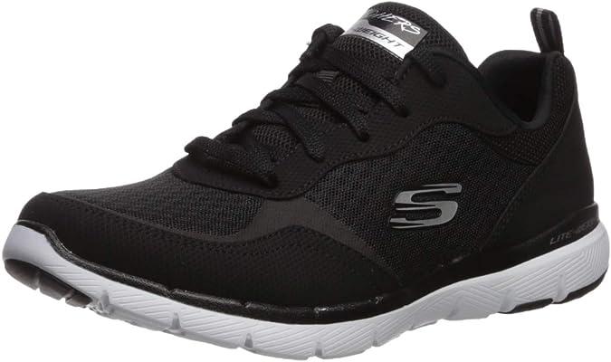 Skechers Damen Flex Appeal 3.0 go Forward Sneaker, Schwarz