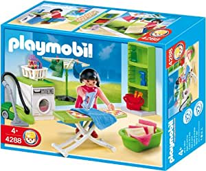 Playmobil laundry room toys games for Salle a manger playmobil city life