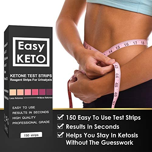 Easy Keto Ketone Testing Strips: For Urinalysis 150 High Grade Test Sticks Accurately Measure Urine Level For Ketones Perfect For Ketogenic Paleo Low Carb and Atkins Diets and Monitoring Ketosis 2