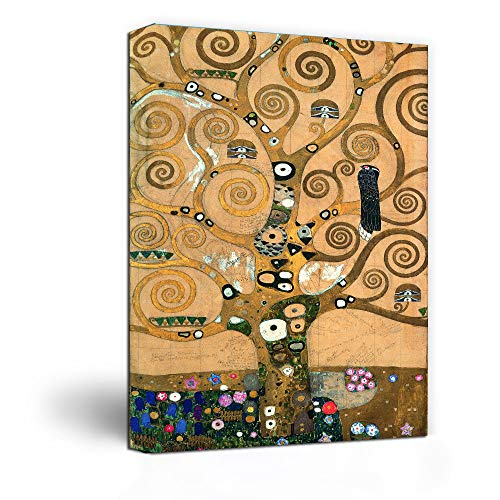 Canvas Wall Art -Tree of Life by Gustav Klimt Painting Print-24