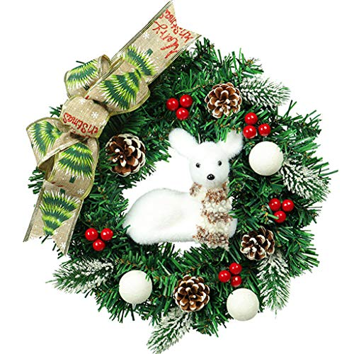 White Deer Garland Red Fruit Home Holiday Christmas Decoration - Holiday Greetings Fruit Basket