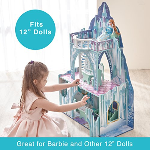 Teamson Kids Ice Castle Wooden Doll House With 7 Pcs