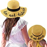 C.C Womens Mommy and Me Girls Sayings Summer Beach Pool Floppy Dress Sun Hat Natural (do not Disturb)