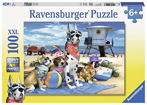 (Ravensburger No Dogs on The Beach 100 Piece Jigsaw Puzzle for Kids - Every Piece is Unique, Pieces Fit Together Perfectly)