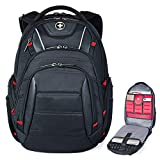 Swiss Backpack for Men, TSA Smart Scanner Friendly Laptop Business Travel Backpacks Scansmart