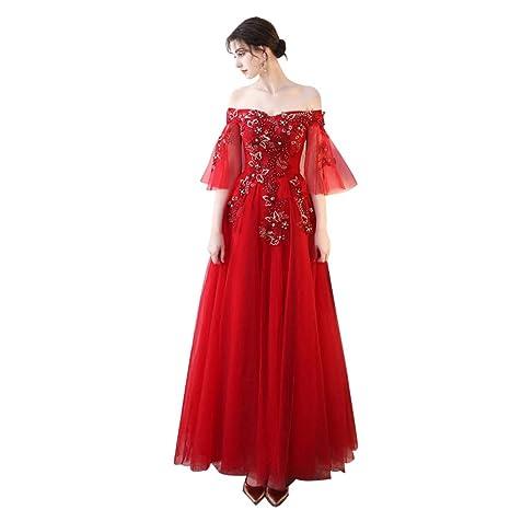Boda Vestido De Dama De Honor Noble Y Elegante Largo Fuera