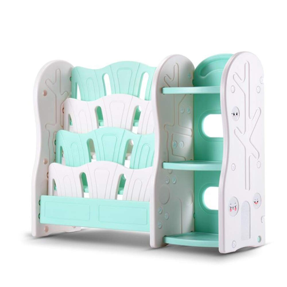 color : Blue, Size : 16.53 * 14.17 * 35.82in JCNFA Shelves Childrens Cabinet Toy Storage Rack Book Shelf Lockers Magazine Cabinet Double Leakproof PE Plastic,2 Sizes