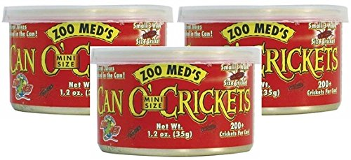 (Zoo Med Can O' Crickets Insect Food, 1.2-Ounce (Pack of 3))
