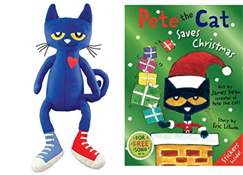 Pete the Cat Christmas Bundle with 14.5 Plush Doll and Hardcover Book (Pete) from Pete the Cat