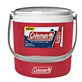 Cheap Coleman 9-Quart Party Circle Cooler, Heritage Red