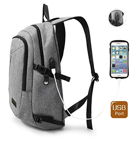 15.6 Laptop Backpack with USB Charging Port for Men Boy T...
