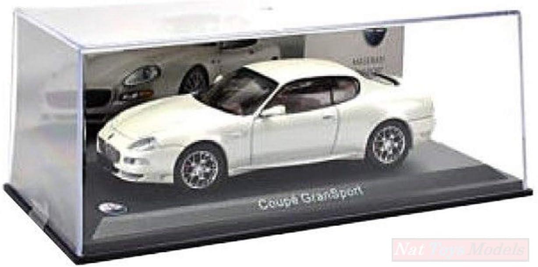 New EDITORIA ABMAS028 Maserati Gran Sport Coupe 2004 White 1:43 MODELLINO Die CAST