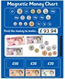 Magnetic Money Chart. Rigid board 40 x 30cm with hanging loop