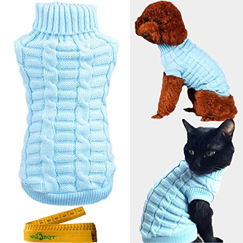 Knitted Braid Plait Turtleneck Sweater Knitwear Outerwear for Dogs & Cats