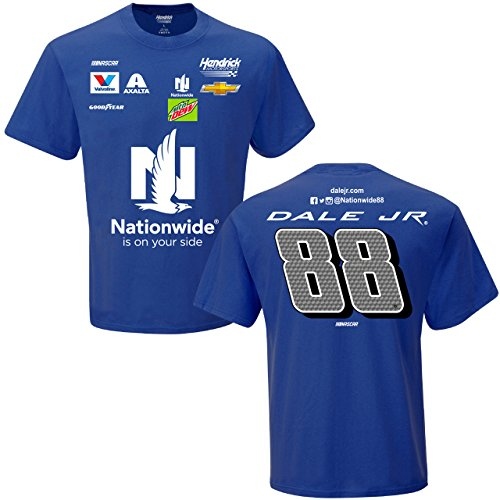 - NASCAR Adult Uniform Crew Racing T-Shirt (#88 Dale Earnhardt Jr, XXL)