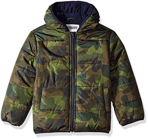 Gymboree Boys' Little Camo Puffer Jacket, Olive, M ()