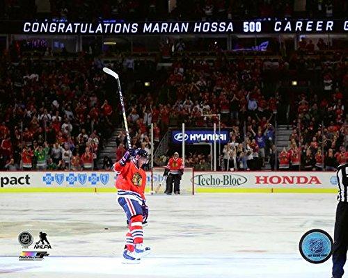 Marian Hossa Chicago Blackhawks 500th NHL Career Goal Photo (Size: 8