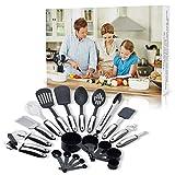 Yansuf 22 Piece kitchen Utensils Set - Premium Stainless Steel & Nylon ...