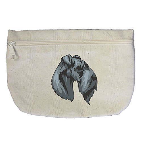 Canvas Pouch Zipper Makeup Bag Kerry Blue Terrier Head By Style In Print