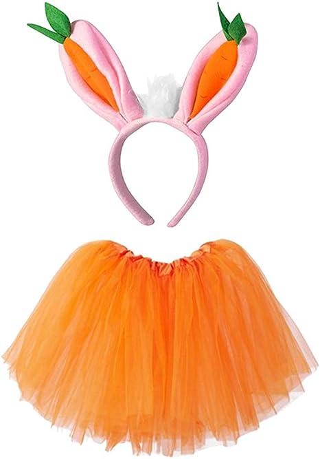 Amosfun - Disfraz de Conejo para niños con Diadema para Conejo y ...