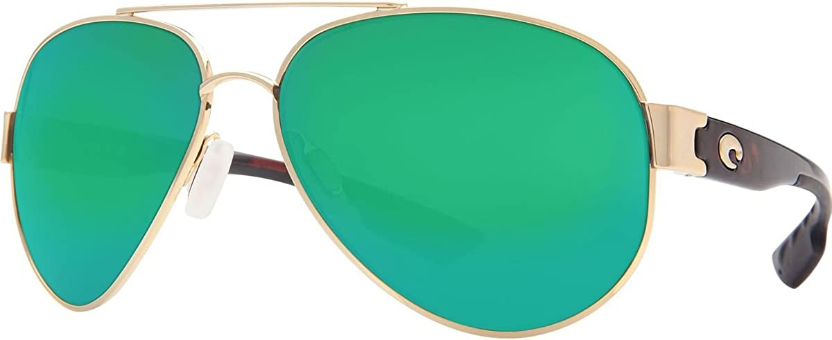 Costa Del Mar サングラス - South Point- ガラス/フレーム : ゴールドレンズ: 偏光グリーンミラー 400ガラス