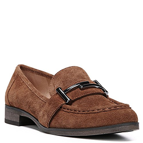 Franco Sarto Womens Baylor Slip-On Loafer Cognac Velour Suede uHURJ