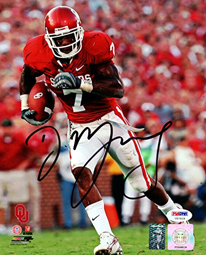 DeMarco Murray Autographed 8x10 Photo Oklahoma Sooners in Black PSA ... e269a2cbb