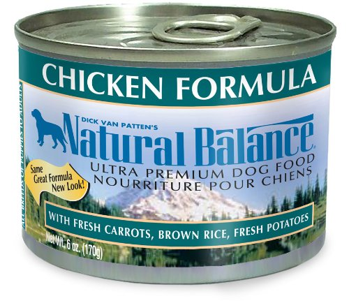 Natural Balance Chicken Brown Rice Formula Dog Food (Pack of 12 6-Ounce Cans), My Pet Supplies