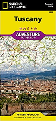 Tuscany Italy National Geographic Adventure Map National