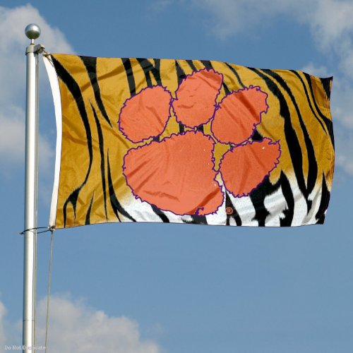 Clemson Tigers Tiger Stripe Flag Large 3x5 College Flags and Banners Co