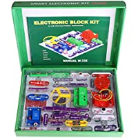 Vansop DIY Circuits Extreme Smart Electronics Discovery Block Kit, Educational Science Kit Toy for Children(US Stock)