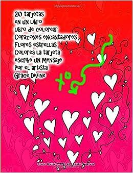 20 tarjetas en un libro libro de colorear Corazones ...