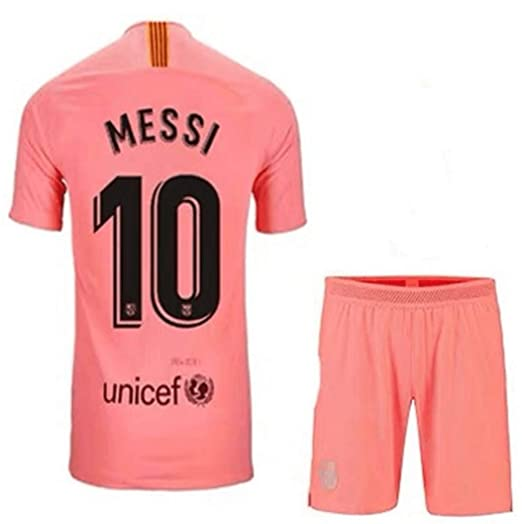 233122871 LISIMKE Soccer Team 2018 19 Barcelona Home Messi 10 Mens Replica  Jersey Shorts Kid Youth Replica