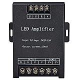 DC 5V-24V RGB LED Amplifier LED Stripe Amplifier - Black