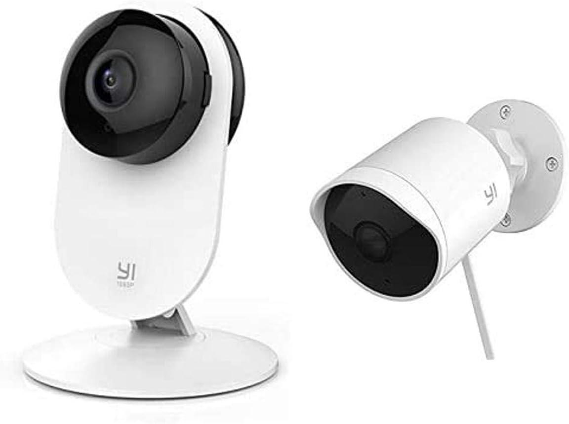 Yi Indoor and Outdoor Security Camera Bundle (2 Cameras Total)